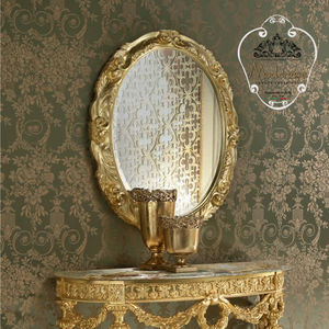 specchio a muro / in stile / ovale / per hotel