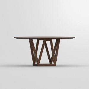 tavolo da pranzo moderno / in noce americano / in quercia / in noce