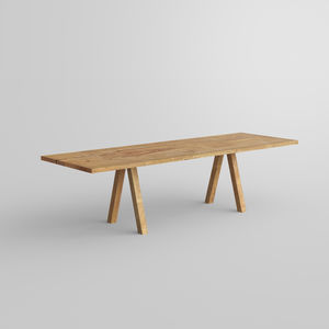 tavolo moderno / in quercia / in legno massiccio / in quercia naturale