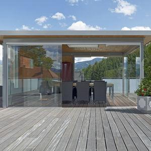 veranda autoportante / in vetro / tuttovetro
