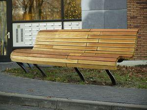 panca pubblica / moderna / in bambù / in ghisa