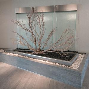 muro d'acqua in vetro / su misura / acciaio inossidabile