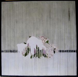 quadro pittura a olio / misto / astratto / floreale