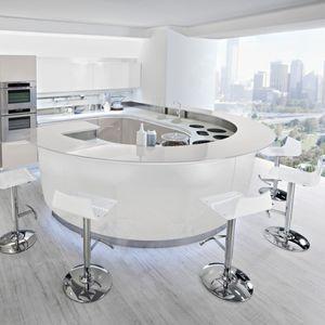 cucina moderna / in laminato / circolare / laccata