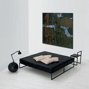 letto singolo / moderno / in legno laccato / in metallo