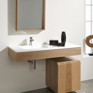 piano lavabo in legno laccato