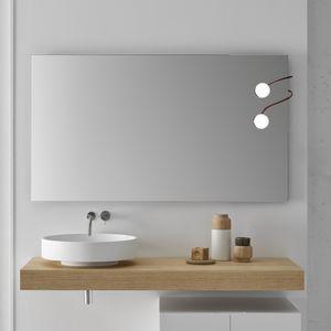 piano lavabo in legno