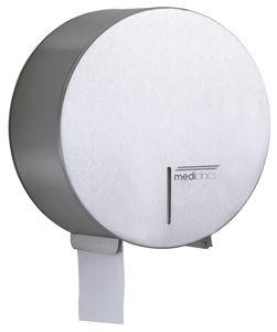 distributore di carta igienica da parete / in acciaio inox / contract