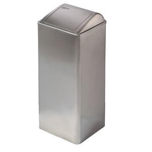 pattumiera igienica / in acciaio inox / con coperchio basculante / moderna