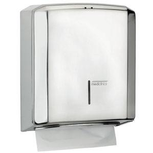 distributore di salviette da parete / in acciaio inox