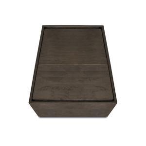 comodino moderno / in betulla / in legno tinto / con supporto in betulla