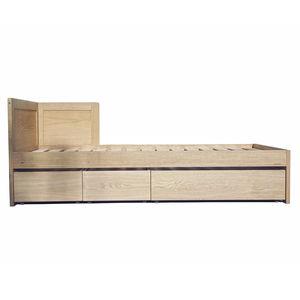 letto singolo / moderno / con testiera / con base contenitore