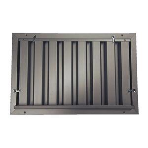 griglia di ventilazione in alluminio / in acciaio galvanizzato / rettangolare / per cucina