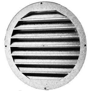 griglia di ventilazione in alluminio / in acciaio galvanizzato / rotonda / di rivestimento
