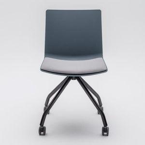 sedia visitatore moderna / imbottita / con rotelle / con base a stella