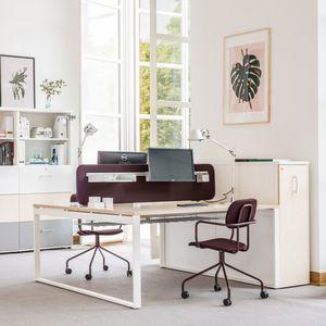 scrivania per open space / in quercia / in betulla / in castagno