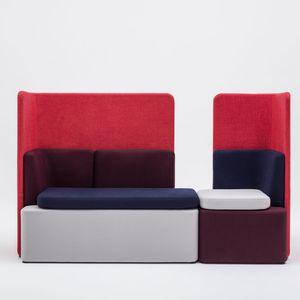 divano modulare / moderno / per zona reception / in tessuto
