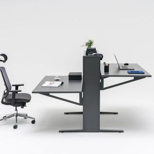 scrivania in metallo / in melamminico / moderna / contract