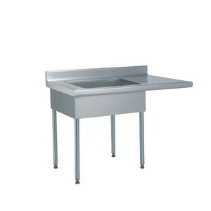 tavolo di preparazione in acciaio inox