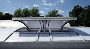 copertura vetrata in alluminio / fissa