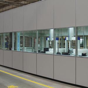 parete fissa / vetrata / in alluminio / per uso industriale