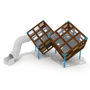 struttura ludica per parco giochi / per edifici pubblici / in legno / in HPL