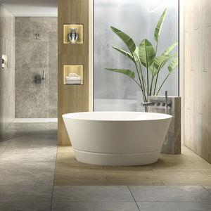 vasca da bagno da appoggio / tonda / in porcellana / profonda