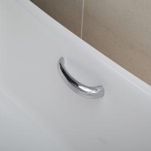 barra di sostegno in metallo cromato / curva / da parete / contract