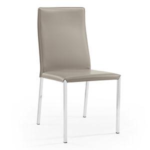 sedia moderna / imbottita / in tessuto / in pelle