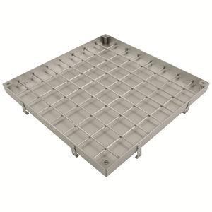 chiusino in acciaio inox / quadrato / prefabbricato