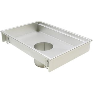 piletta in acciaio inox / per cucina / rettangolare
