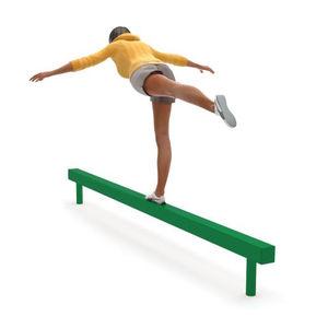 trave d'equilibrio da ginnastica / per percorso vita