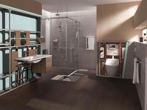 bagno moderno / in legno / contract / prefabbricato