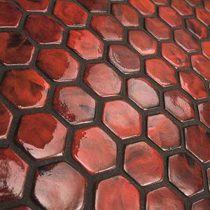 mosaici da interno / da parete / in ceramica / esagonali