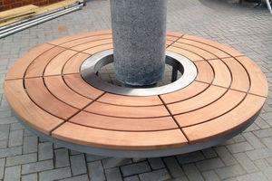 griglia di protezione per alberi in legno