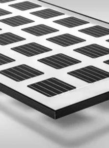 pannello fotovoltaico policristallino / trasparente / black