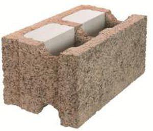 blocco cassero in legno cemento / per muro / isolante
