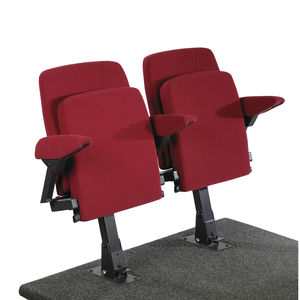 sedia per auditorium moderna / con tavoletta / pieghevole / con base centrale