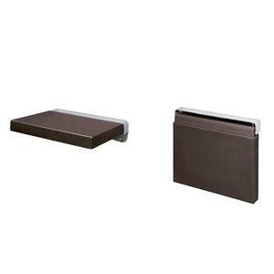 sedile per doccia ribaltabile / da parete / in poliuretano / in acciaio inox