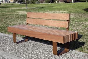 panca pubblica / classica / in legno / con schienale