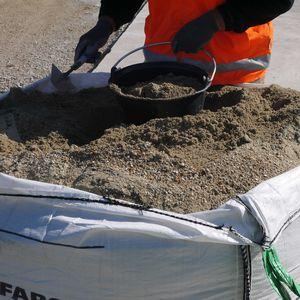 calcestruzzo di ghiaia / ad alta resistenza / per cantiere / per muratura