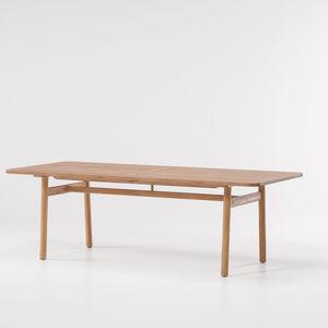 tavolo da pranzo moderno / in teak / in marmo / rettangolare
