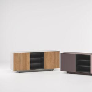credenza moderna / in teak / in alluminio / da giardino