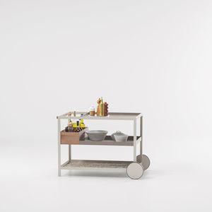 carrello portavivande da giardino / per camera d'hotel / per uso residenziale / in metallo