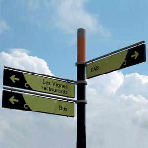 pannello segnaletico a pavimento
