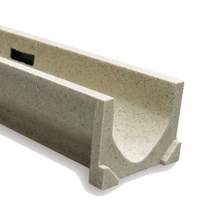 canaletta in calcestruzzo a polimeri / in acciaio galvanizzato / in ghisa / con griglie