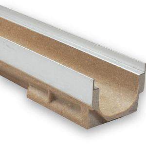 canaletta in calcestruzzo a polimeri / in acciaio galvanizzato / con griglie / per spazio pubblico