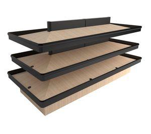 scaffalatura per negozio / per frutta e verdura / standard / in legno