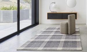 tappeto moderno / a quadretti / in lana / in cotone
