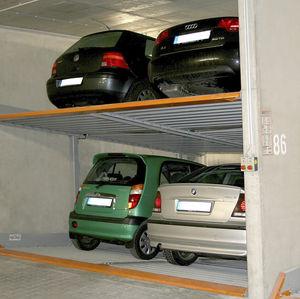 sistema di parcheggio con piattaforma